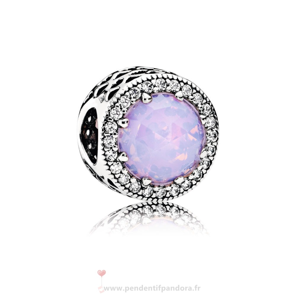 Complet Pandora Opalescent Rose Radiant Coeurs Ouvrirwork Charm