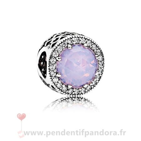Complet Pandora Pandora Collection Coeurs De Pandora Radiant Coeurs Charme Opalescent Rose Crystal Clear Cz