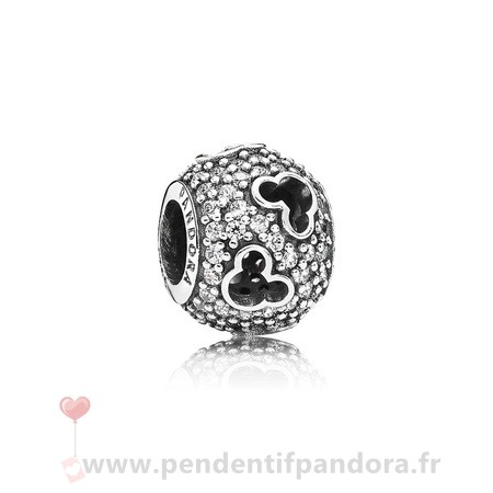 Complet Pandora Pandora Paillettes Paves Charms Disney Mickey Silhouettes Charm Clear Cz