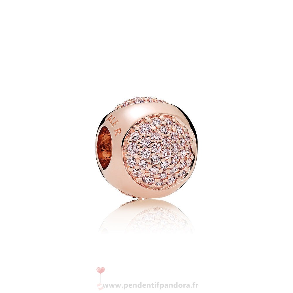 Complet Pandora Pandora Paves Charms Charms Dazzling Droplet Charm Pandora Rose Rose Cz
