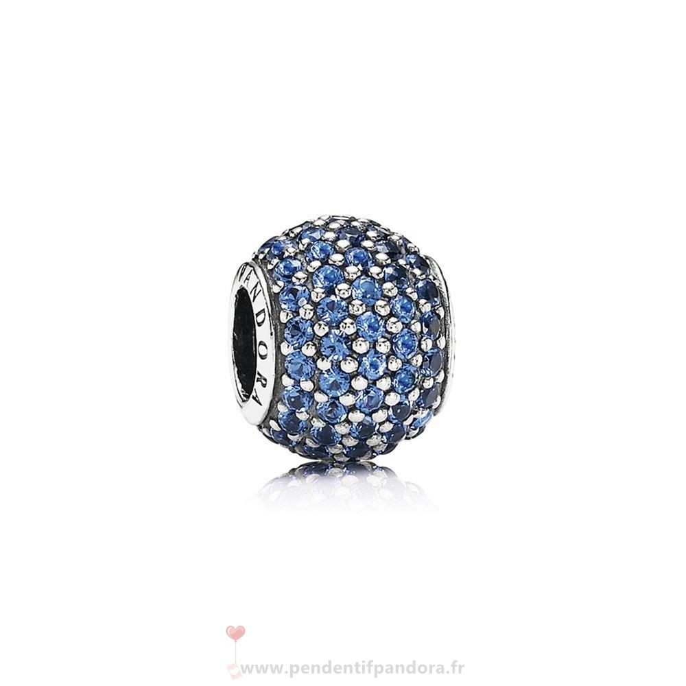 Complet Pandora Pandora Sparkling Paves Charms Pave Lumieres Charm Blue Crystal