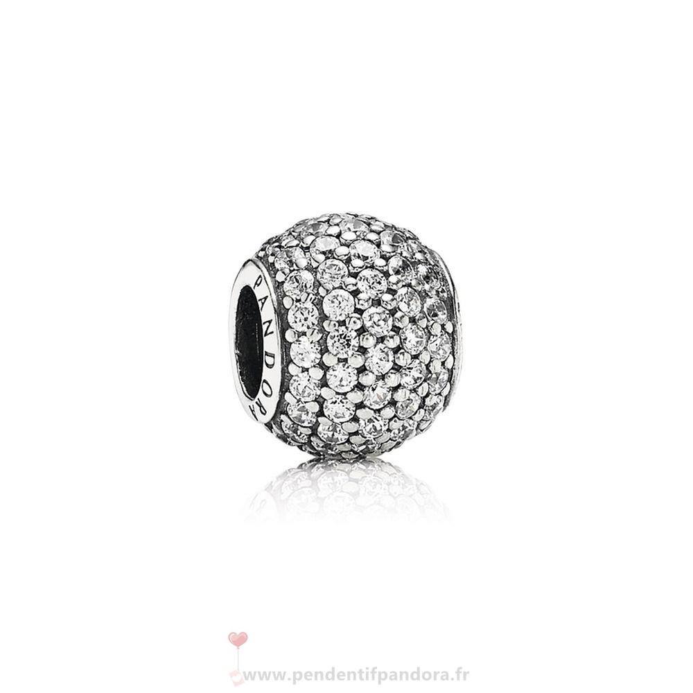 Complet Pandora Pandora Sparkling Paves Charms Pave Lumieres Charm Clear Cz