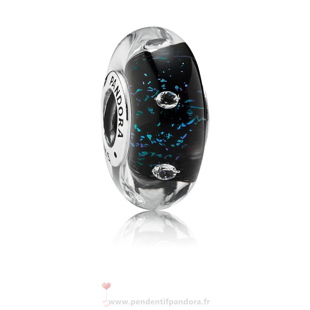 Complet Pandora Midnight Blue Fizzle Murano Charm